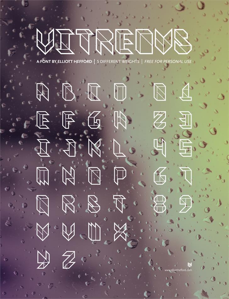 Vitreous Font handwriting rain