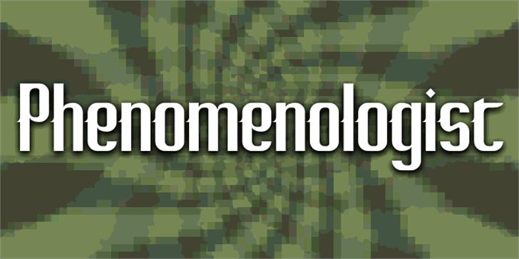 Phenomenologist Font screenshot pattern