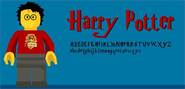 Harry Potter Font cartoon screenshot
