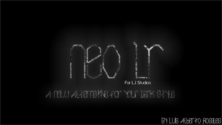 Neo LR Font screenshot black-and-white