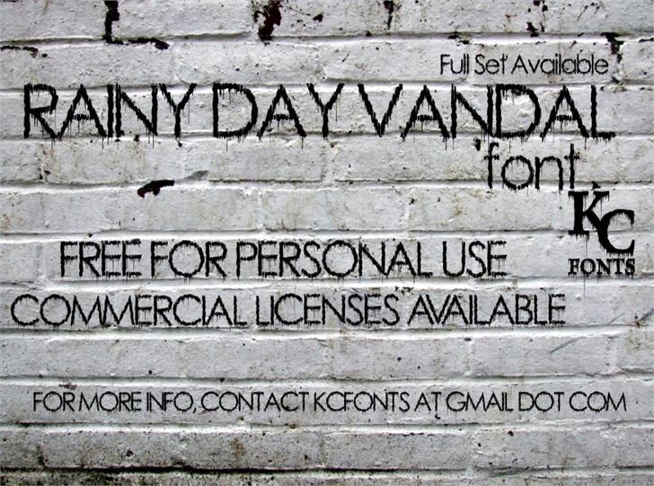 Rainy Day Vandal font by KC Fonts