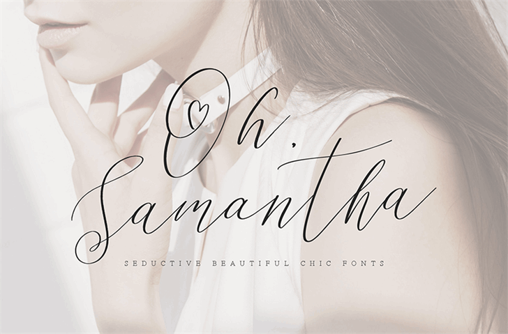 Oh Samantha Font handwriting design