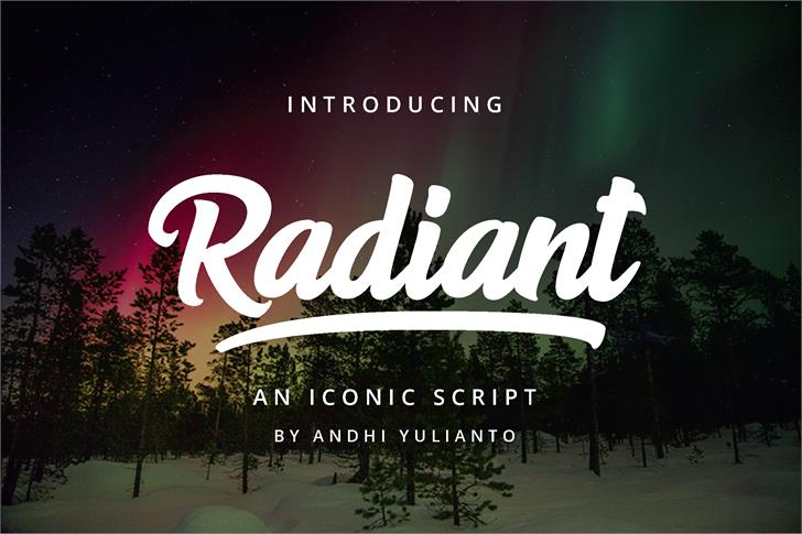 Radiant Free For Personal Use Font design