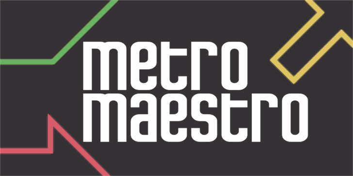 Metro Maestro Font design screenshot