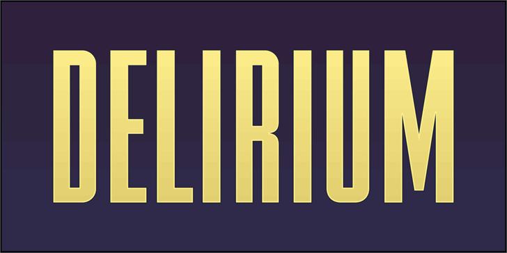 FTY DELIRIUM NCV Font poster screenshot