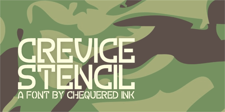 Crevice Stencil Font design cartoon