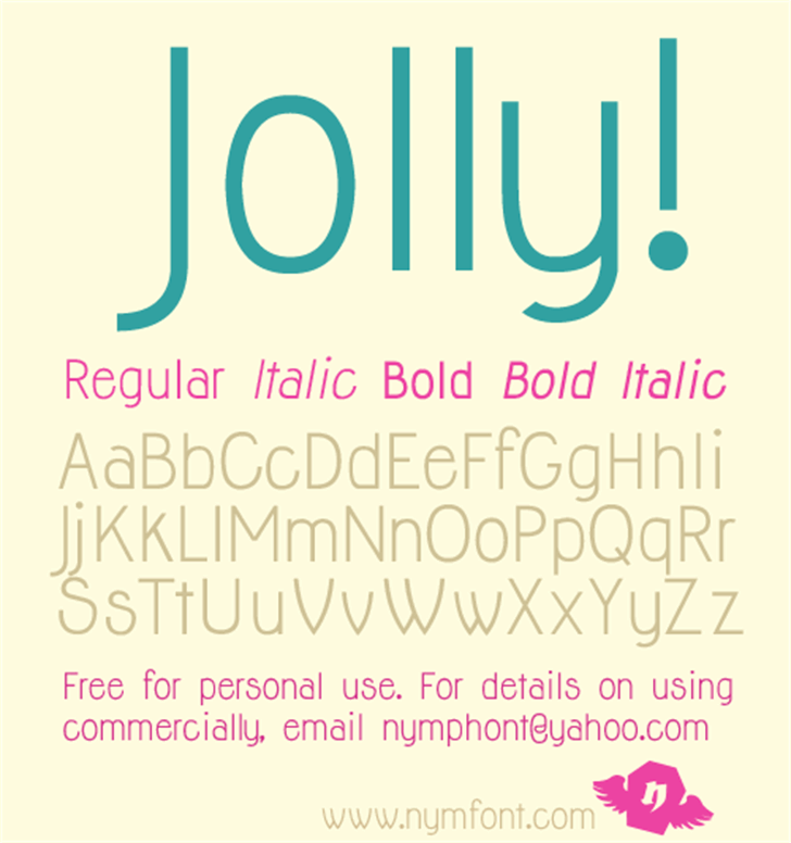 Jolly font by Nymphont