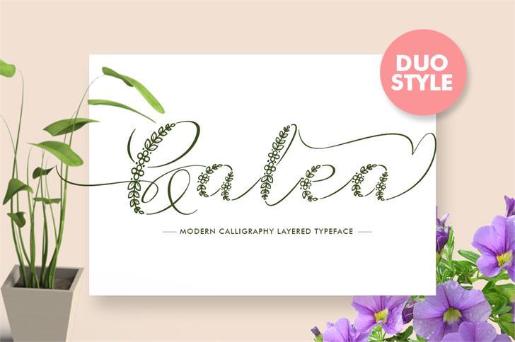 Galea Font design flower