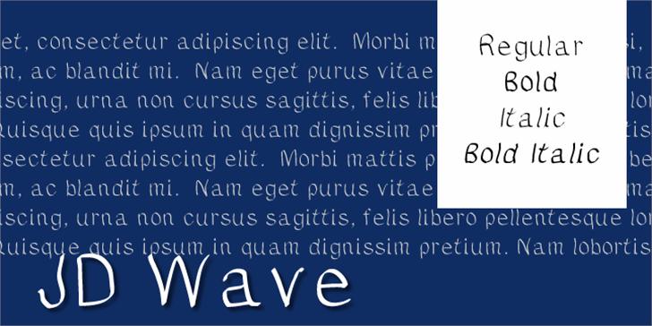 JDWave Font text screenshot