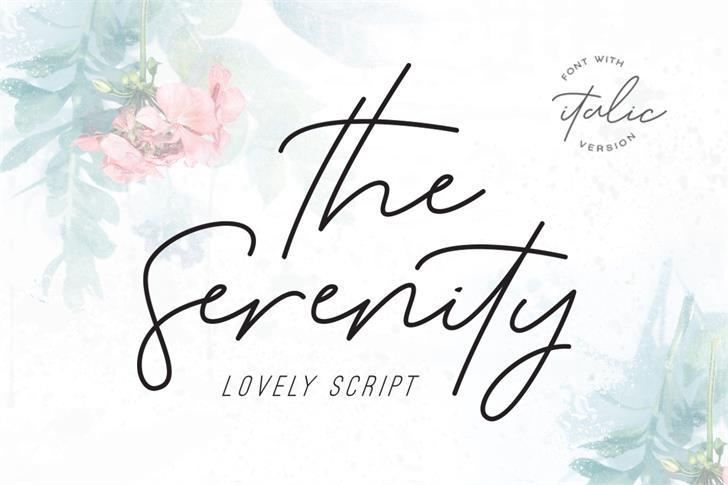 Serenity Font handwriting