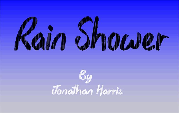 Rain Shower Font handwriting graphic
