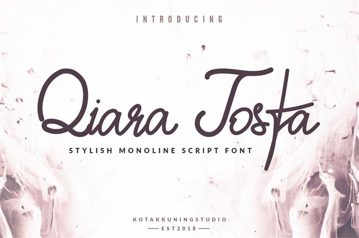 Qiara Tosfa Font handwriting design