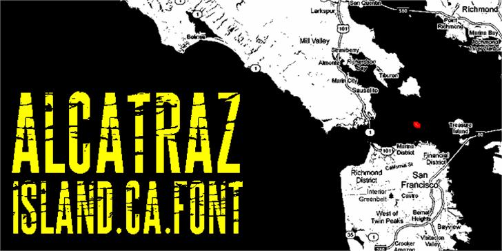 ALCATRAZ Font text map