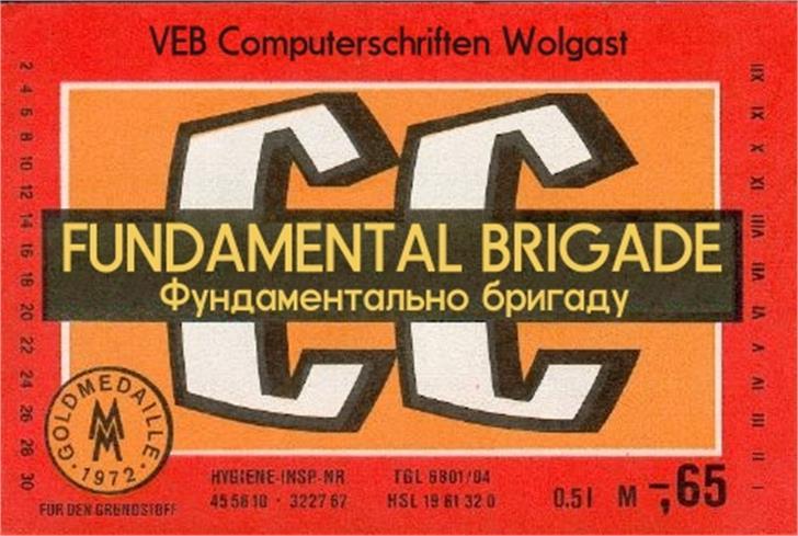 Fundamental  Brigade Font poster text