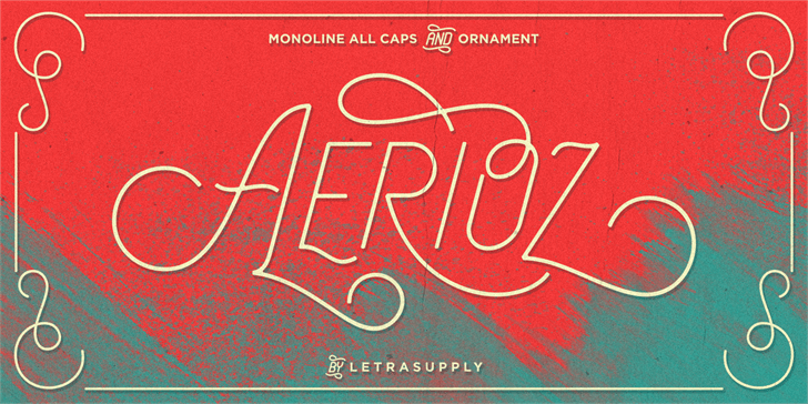 Aerioz Demo Font design typography