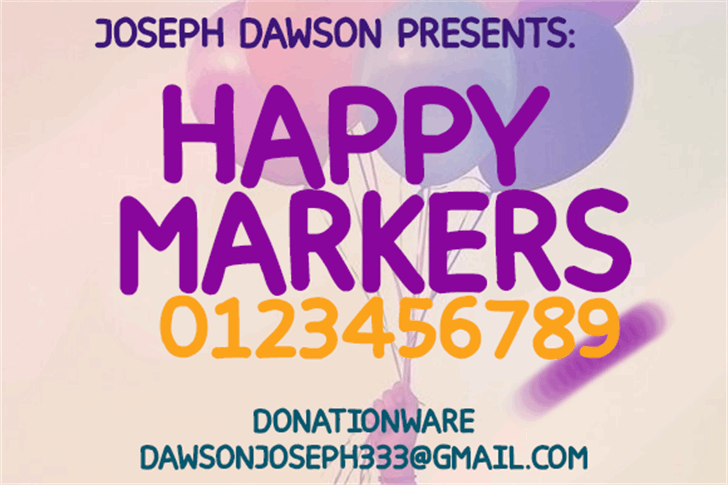 Happy markers Font text poster