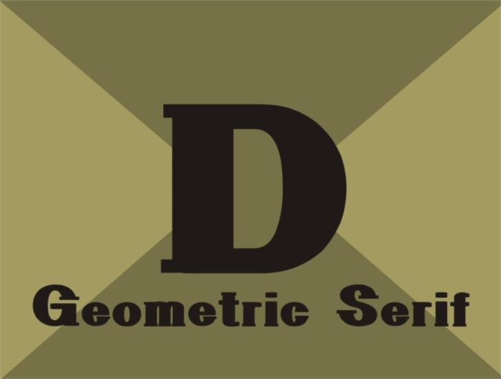 GeometricSerif Font design screenshot