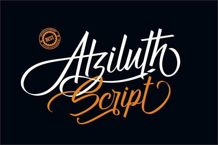 Atziluth script font poster