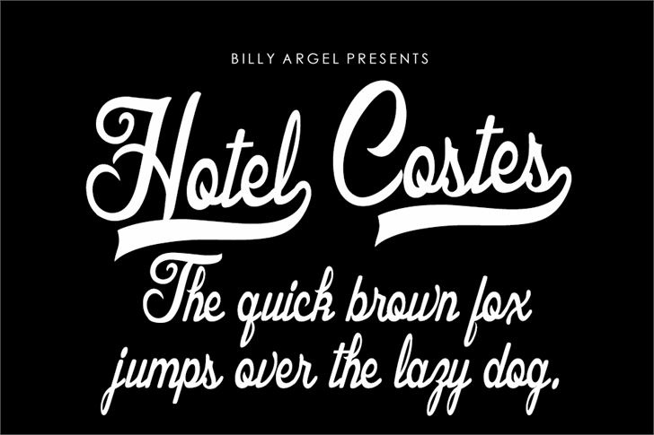 Hotel Costes Personal Use Font design text