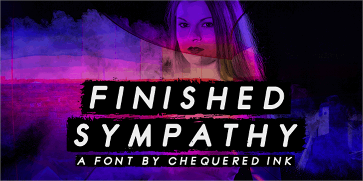 Finished Sympathy Font human face poster