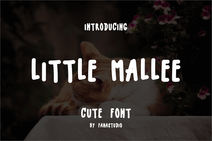 LITTLE MALLE Font text screenshot