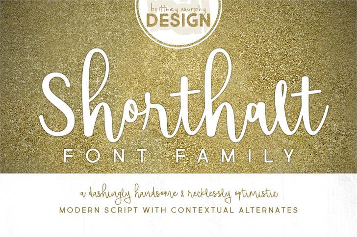 Shorthalt Font handwriting design