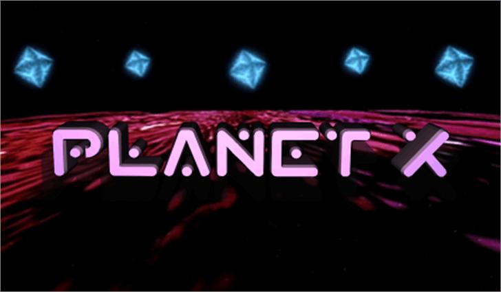 Planet X Font screenshot monitor