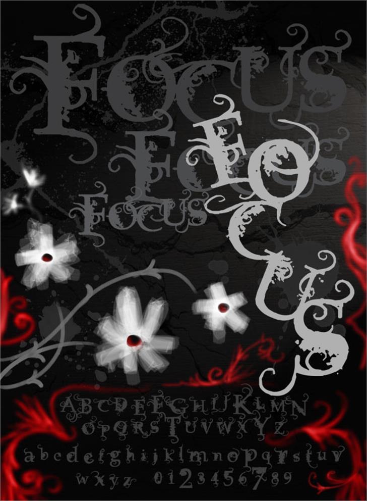 Vtks Focus Font flower