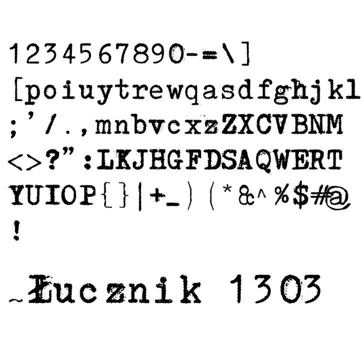 Łucznik 1303 Plus Font screenshot font