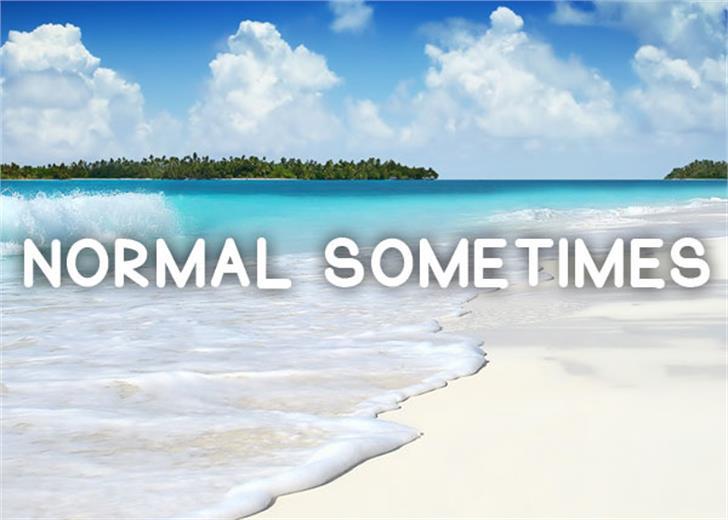 Normal Sometimes Font sky beach