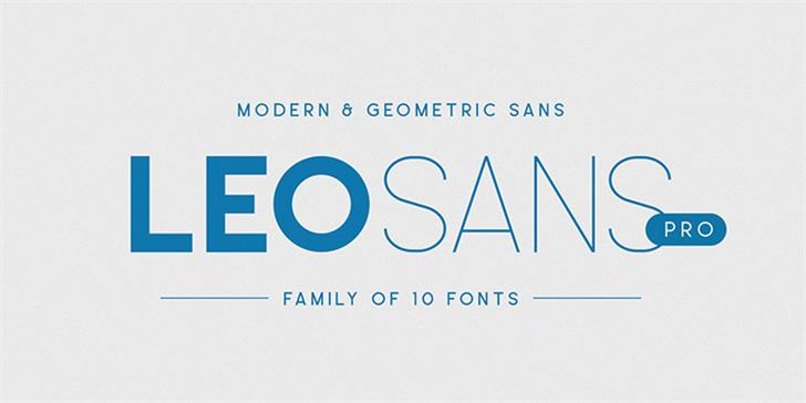 Leo Sans Font design screenshot