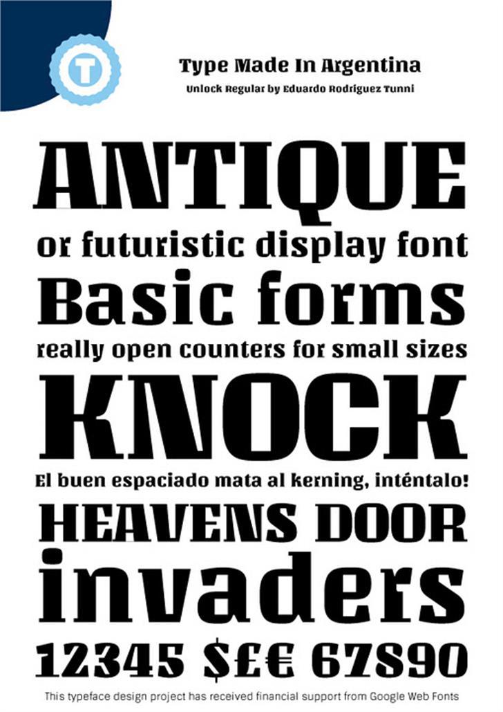 Unlock Font poster text