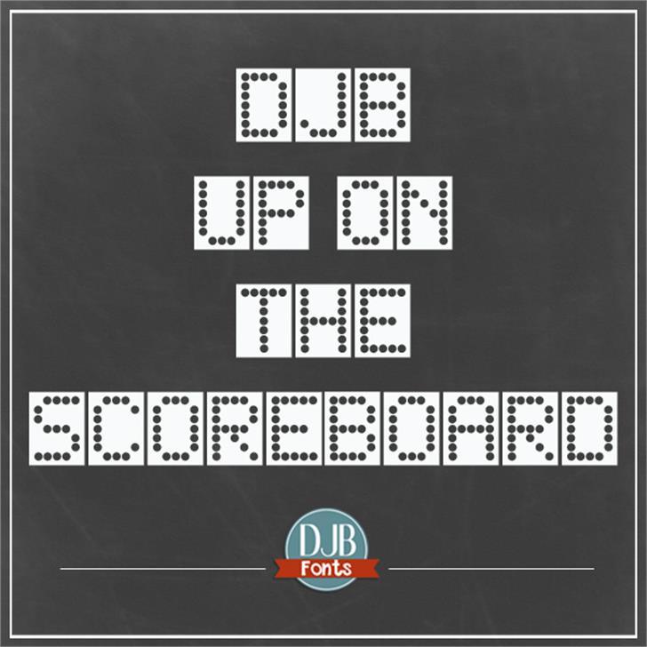DJB Up on the Scoreboard Font first-aid kit screenshot