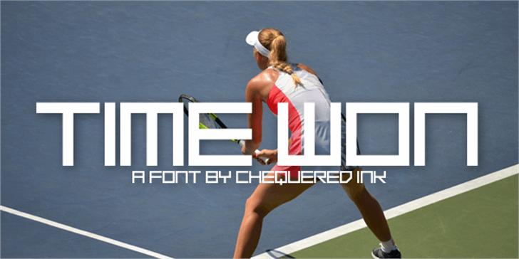 Time Won Font tennis sport