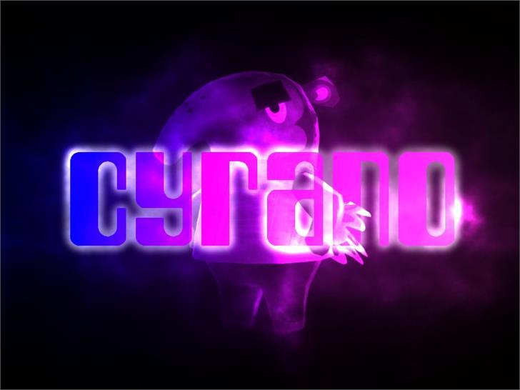 Cyrano Font poster
