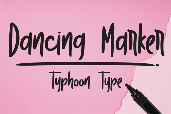 Dancing Marker Font handwriting