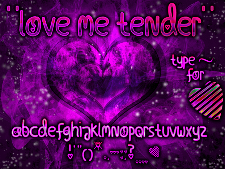 Love Me Tender Font violet purple