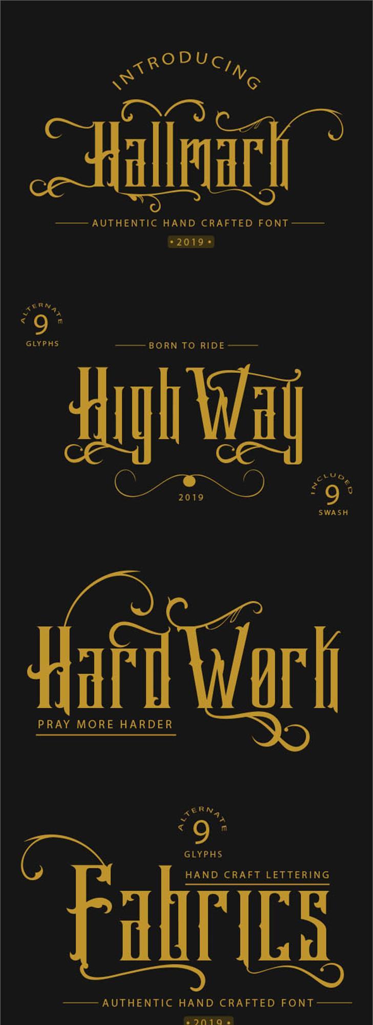 Hallmark demo Font design poster
