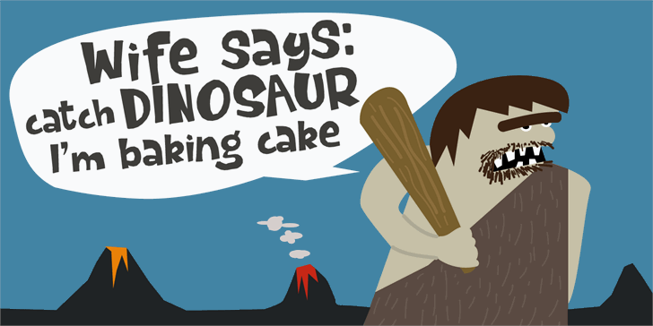 Dinosaur Cake DEMO Font cartoon illustration
