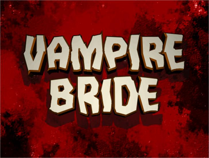 Vampire Bride Font sign