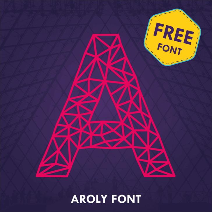 Aroly Font screenshot design