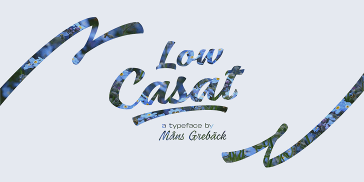 Low Casat Light PERSONAL USE Font design typography