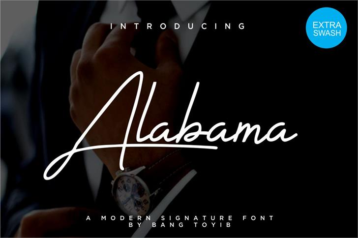 alabama Font screenshot poster