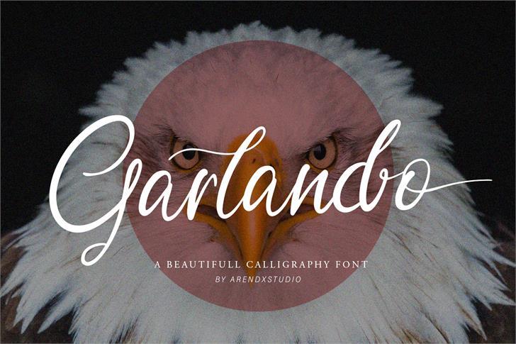 Garlando Free Personal use Font poster