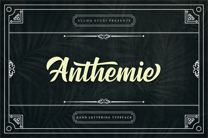 Anthemie font by Allmostudio