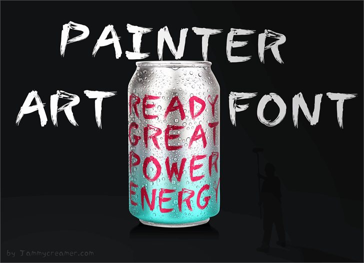 Painter Font soft drink drink