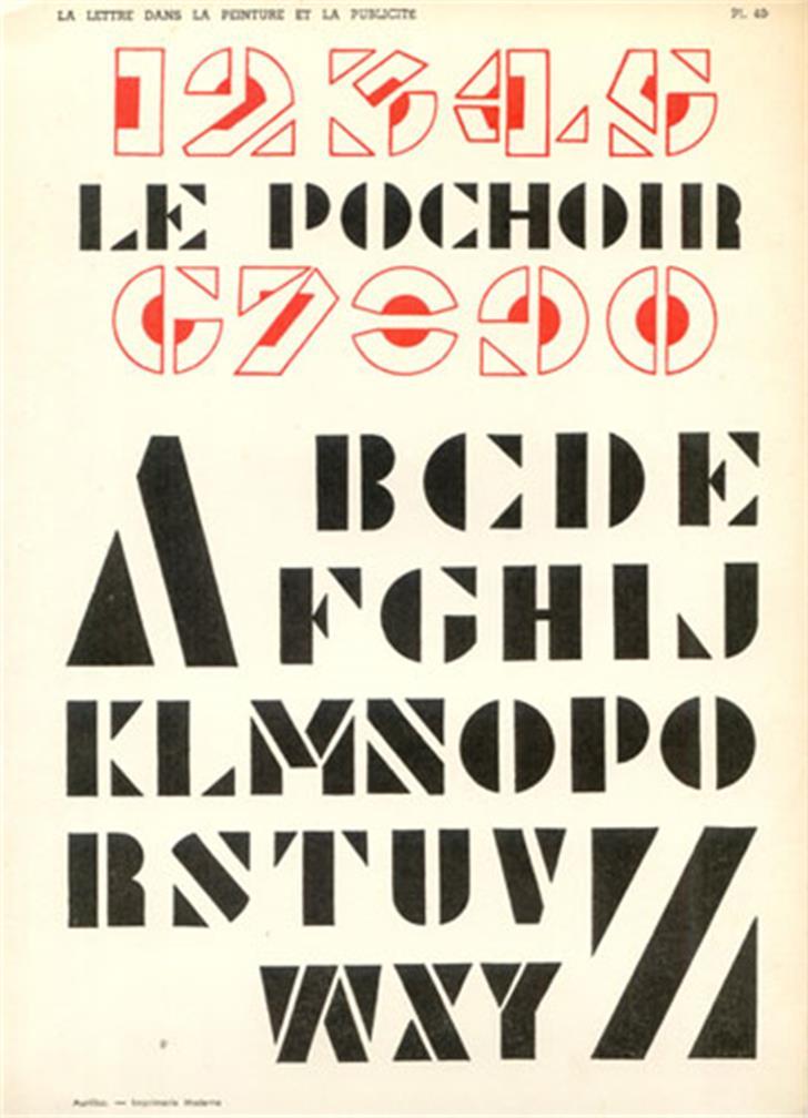 Le Pochoir Font text poster