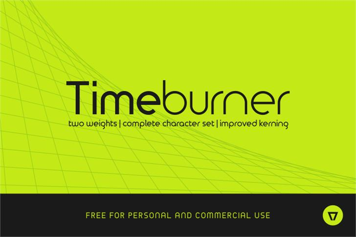 TimeBurner Font screenshot line