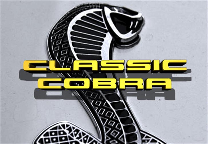 Classic Cobra Font auto part design