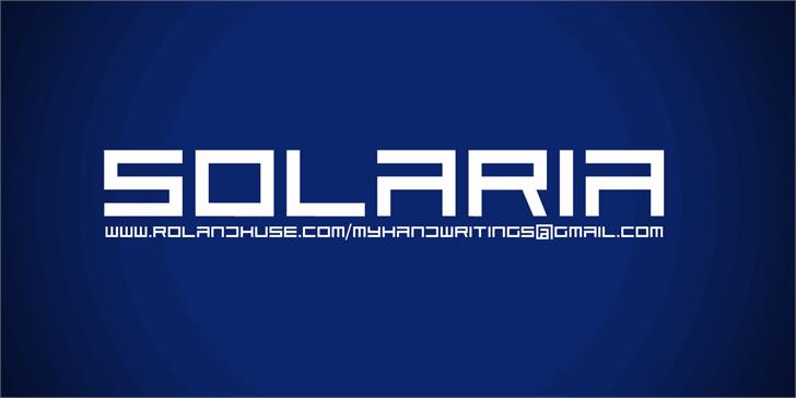 Solaria Font design screenshot
